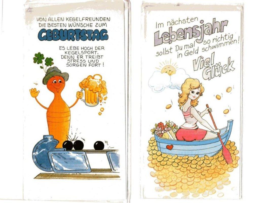 2 lustige geburtstagskarten tauschen tauschb rse und. Black Bedroom Furniture Sets. Home Design Ideas