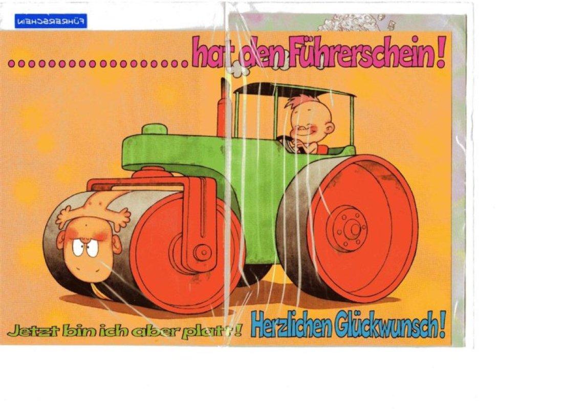 Lustige karten auto und f hrerschein tauschen for Witzige karten kostenlos